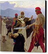 Saint Nicholas Of Myra Saves Three Innocents From Death Canvas Print by Ilya Efimovich Repin