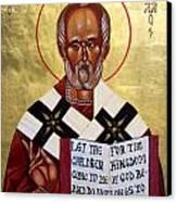 Saint Nicholas The Wonder Worker Canvas Print by Joseph Malham