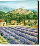 Saint Paul De Vence And Lavender Canvas Print by Marilyn Dunlap