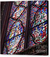 Sainte-chapelle Window Canvas Print by Ann Horn