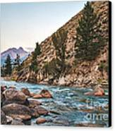 Salmon River In The Twilight Canvas Print by Robert Bales
