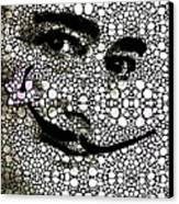 Salvador Dali - Surreal - Stone Rock'd Art By Sharon Cummings Canvas Print by Sharon Cummings