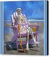 Sam Enjoys The Beach -- Again Canvas Print by Betsy Knapp