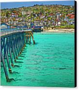 San Clemente Pier Canvas Print by Joan Carroll