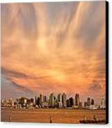San Diego Cloud Burst Canvas Print by Peter Tellone