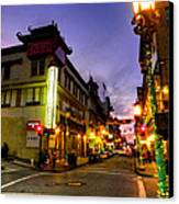 San Francisco - Chinatown 010 Canvas Print by Lance Vaughn