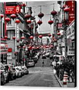 San Francisco - Chinatown 014 Canvas Print by Lance Vaughn