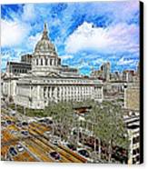 San Francisco City Hall 5d22507 Photoart Canvas Print by Wingsdomain Art and Photography