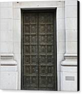 San Francisco Emporio Armani Store Doors - 5d20538 Canvas Print by Wingsdomain Art and Photography