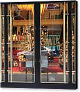 San Francisco Gumps Store Doors - 5d20585 Canvas Print by Wingsdomain Art and Photography