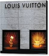 San Francisco Louis Vuitton Storefront - 5d20546 Canvas Print by Wingsdomain Art and Photography