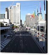 San Francisco Moscone Center And Skyline - 5d20513 Canvas Print by Wingsdomain Art and Photography