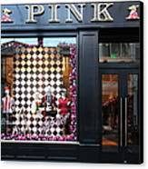 San Francisco Pink Storefront - 5d20565 Canvas Print by Wingsdomain Art and Photography