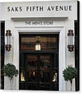 San Francisco Saks Fifth Avenue Store Doors - 5d20574 Canvas Print by Wingsdomain Art and Photography