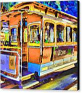 San Francisco Trams 1 Canvas Print by Yury Malkov
