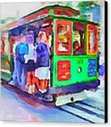 San Francisco Trams 3 Canvas Print by Yury Malkov