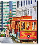 San Francisco Trams 6 Canvas Print by Yury Malkov