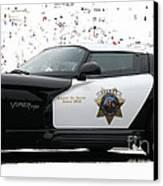 San Luis Obispo County Sheriff Viper Patrol Car Canvas Print by Tap On Photo