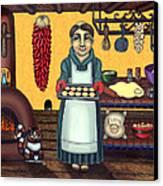 San Pascual Making Biscochitos Canvas Print by Victoria De Almeida
