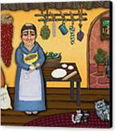 San Pascuals Kitchen 2 Canvas Print by Victoria De Almeida