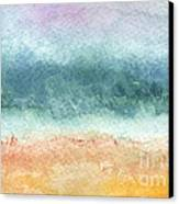 Sand And Sea Canvas Print by Linda Woods