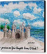 Sandcastle Canvas Print by Catherine Saldana