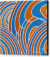 Sanguine And Blue Abstract Canvas Print by Frank Tschakert