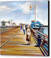 Santa Barbara Pier Canvas Print by Filip Mihail