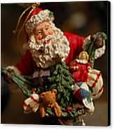 Santa Claus - Antique Ornament - 04 Canvas Print by Jill Reger