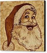 Santa Claus Joyful Face Canvas Print by Georgeta  Blanaru
