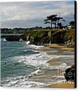 Santa Cruz Beach Canvas Print by Carol Groenen