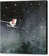 Santa Is Coming Canvas Print by Yoshiko Mishina