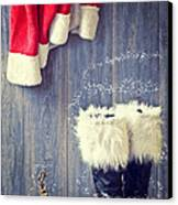 Santa's Boots Canvas Print by Amanda And Christopher Elwell