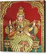 Saraswathi  Canvas Print by Jayashree