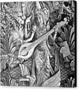 Saraswati - Supreme Goddess Canvas Print by Karon Melillo DeVega
