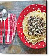 Sardines And Spaghetti Canvas Print by Tom Gowanlock