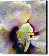 Satin Flower Fractal Kaleidoscope Canvas Print by Renee Trenholm