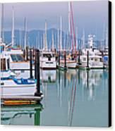 Sausalito Harbor California Canvas Print by Marianne Campolongo
