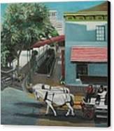 Savannah City Market Canvas Print by Jude Darrien