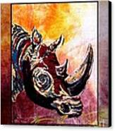 Save The Rhino Canvas Print by Sylvie Heasman