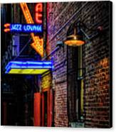 Scat Lounge Living Color Canvas Print by Joan Carroll