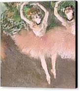 Scene De Ballet Canvas Print by Edgar Degas