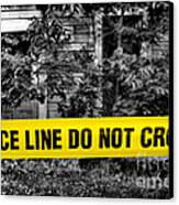 Scene Of The Crime Canvas Print by Olivier Le Queinec