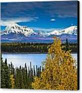 Scenic View Of Mt. Sanford L And Mt Canvas Print by Sunny Awazuhara- Reed