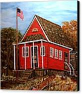 School House Canvas Print by Kenneth  LePoidevin