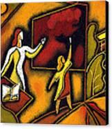 School Canvas Print by Leon Zernitsky