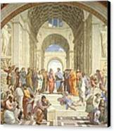 School Of Athens Canvas Print by Raphael