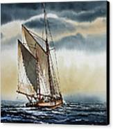 Schooner Canvas Print by James Williamson