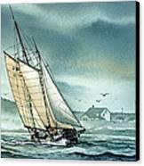 Schooner Voyager Canvas Print by James Williamson