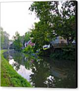 Schuylkill Canal Mont Clare Canvas Print by Bill Cannon